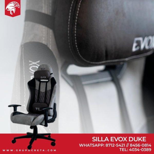 Silla Evox Duke Ash Black Creta Gaming