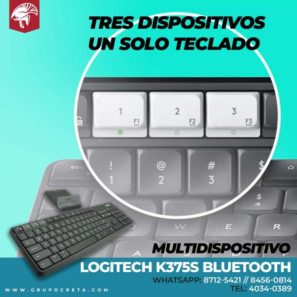 Teclado Logitech k375s Bluetooth Creta Gaming