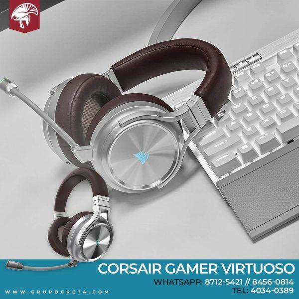 headset Corsair Gamer Virtuoso Creta Gaming