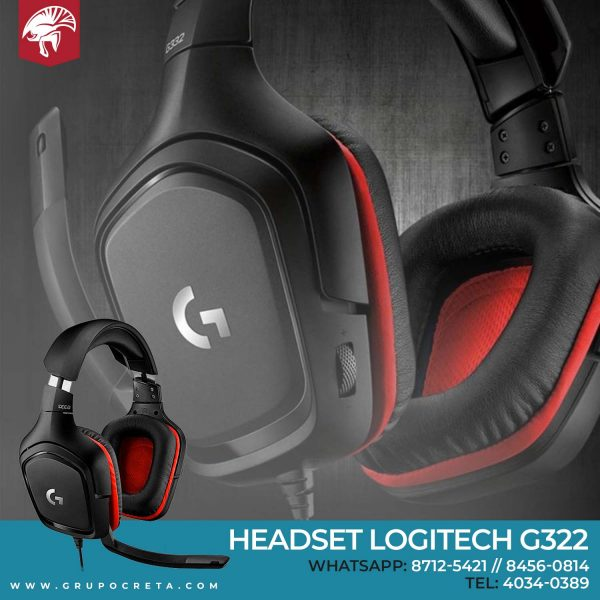 Headset Logitech G332 Creta Gaming