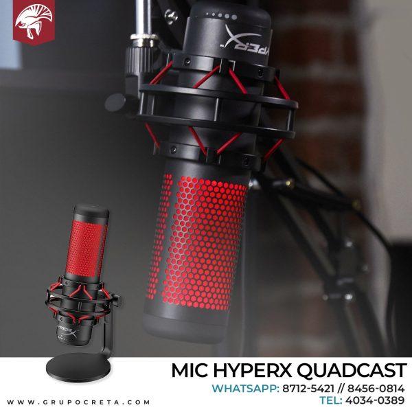 Microfono HyperX QuadCast Standalone Mic USB Condenser Gaming Creta Gaming
