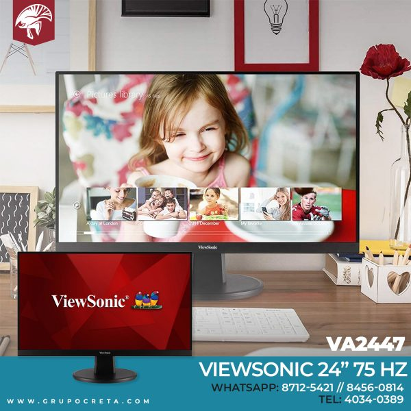 Monitor Viewsonic de 24 pulgadas 75 Hz VA2447-MH Creta Gaming