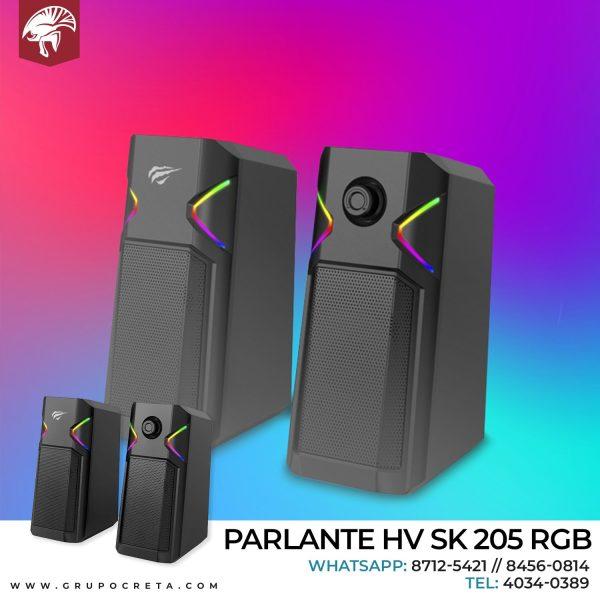 Parlante HV SK 205 Gaming RGB Creta Gaming