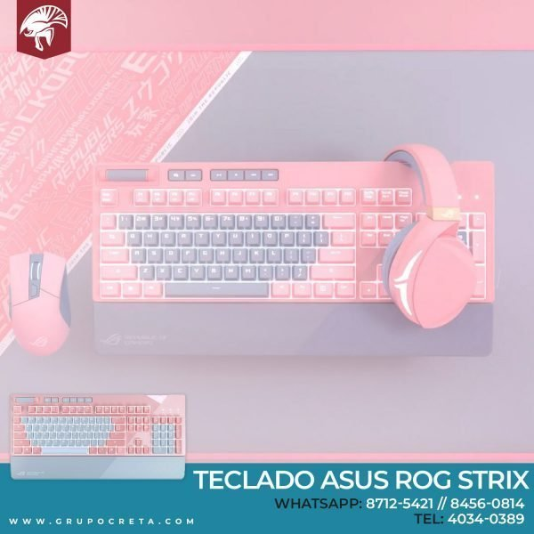 Teclado Asus ROG Strix Pink Cherry Brown Creta Gaming