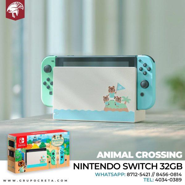 NINTENDO SWITCH 32GB EDICION ESPECIAL ANIMAL CROSSING Creta Gaming